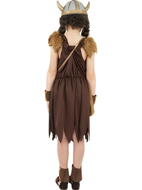 Child Viking Girls Childrens Costume - Side View
