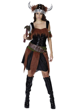 Adult Viking Lady Costume Couples Costume