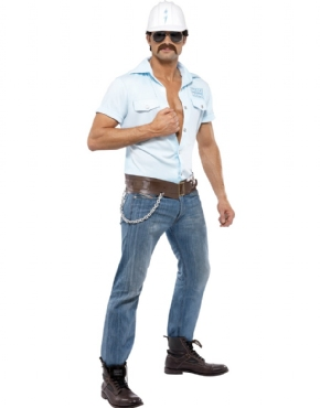 Adult Village People Construction Worker Costume