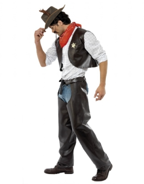 Adult Village People Cowboy Costume - Back View