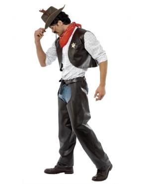 Adult Village People Cowboy Costume - Back View