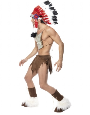 Adult Village People Indian Costume - Back View