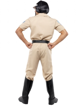 Adult Village People Motorcycle Cop Costume - Side View
