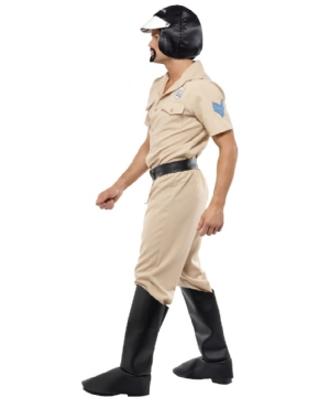 Adult Village People Motorcycle Cop Costume - Back View