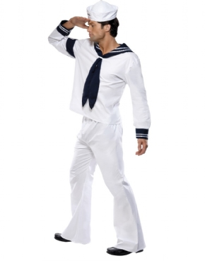 Adult Village People Navy Costume - Back View