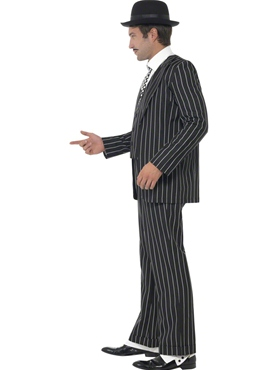 Adult Vintage Gangster Boss Costume - Back View