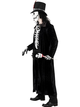 Adult Skeleton Voodoo Man Costume - Back View