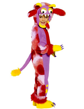 Child Mini Monsters Wacky Grizzle Costume - Side View