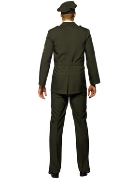 Adult Wartime Officer Costume - Back View