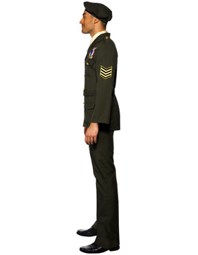 Adult Wartime Officer Costume - Side View
