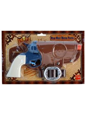 Water Pistol Set Brown Blue White