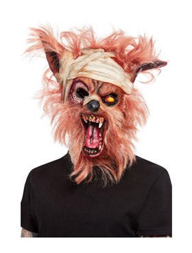 Werewolf Mummy Overhead Mask - Back View