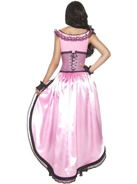 Adult Western Authentic Brothel Babe Costume - Side View