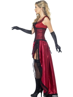 Adult Western Authentic Brothel Babe Costume - Back View