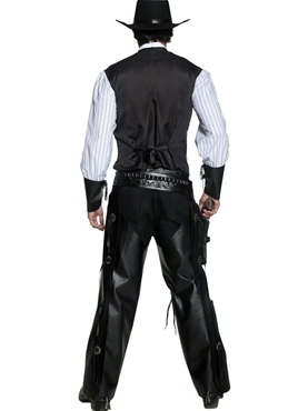 Adult Western Gunslinger Costume - Side View