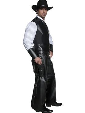 Adult Western Gunslinger Costume - Back View