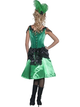 Adult Western Saloon Girl Costume - Side View