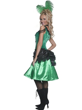 Adult Western Saloon Girl Costume - Back View  sc 1 st  Fancy Dress Ball & Adult Western Saloon Girl Costume - 36158 - Fancy Dress Ball
