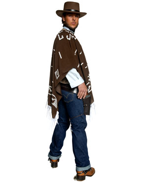 Adult Western Wandering Gunman Costume - Side View