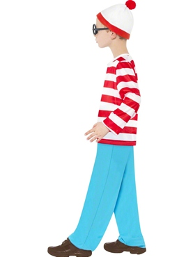 Child Where's Wally Costume - Side View