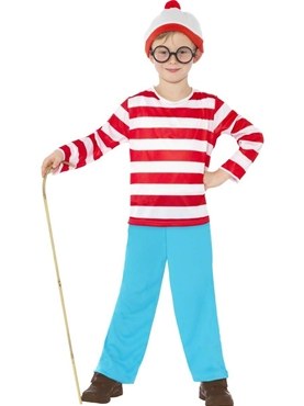 Where's Wally Boy Costume