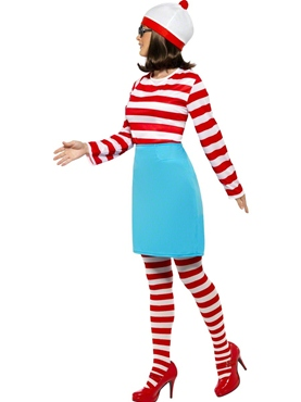 Adult Where's Wally Wanda Female Costume - Back View