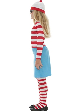 Child Where's Wally Wenda Costume - Side View