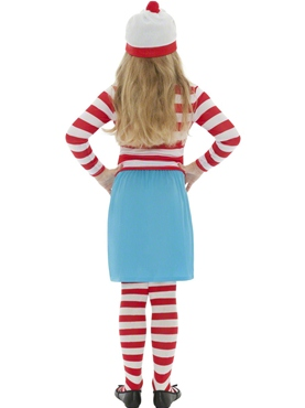 Child Where's Wally Wenda Costume - Back View
