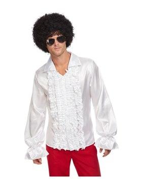 White 60s Ruffled Shirt