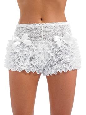 Adult Burlesque White Bustle Pants