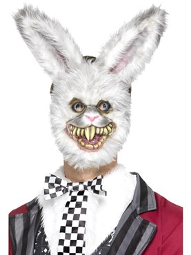 White EVA Rabbit Mask Couples Costume