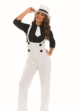 Adult White Gangster Lady Costume