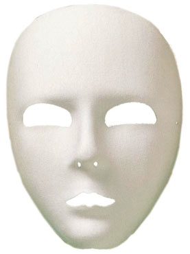 White Large Full Face Viso Eye Mask