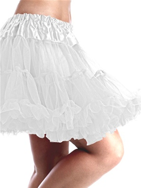 White Multi Layered Tutu Skirt