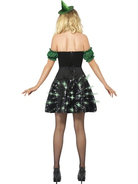 Adult Fever Wicked Witch Light Up Costume - Side View