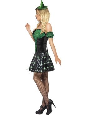Adult Fever Wicked Witch Light Up Costume - Back View