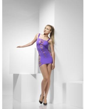 Adult Seamless Purple Mini Dress