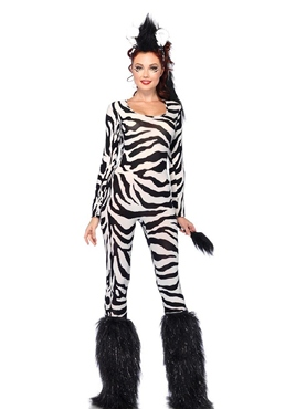Adult Wild Zebra Costume - Side View