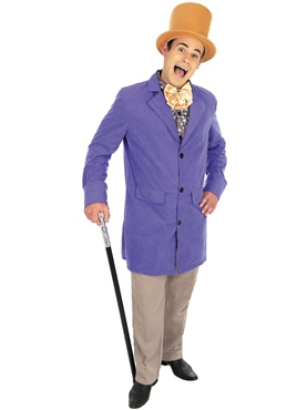 Adult Willy Wonka Factory Owner Costume - Back View