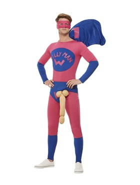 Willyman Superhero Costume - Back View