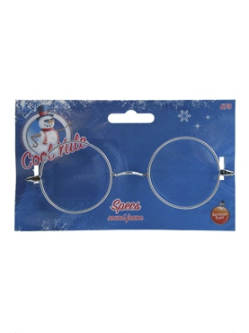 Wire Framed Santa Specs - Back View