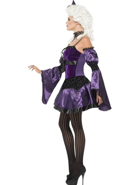 Adult Witch Masquerade Costume - Back View