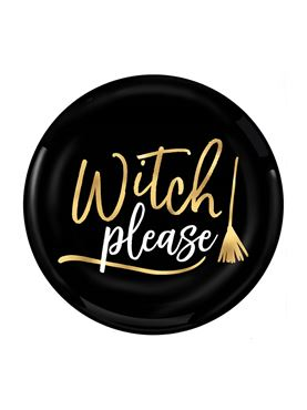 Witch Please Plastic Plates