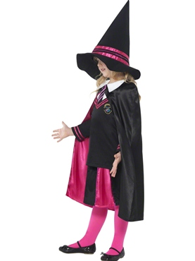 Child Witch School Girl Costume - Back View