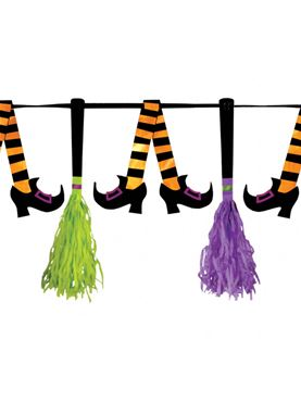 Witches' Crew Paper Tassel Pennant Banner