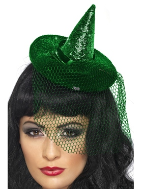 Witches Mini Glitter Hat