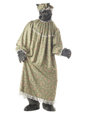 Adult Wolf Granny Costume Couples Costume