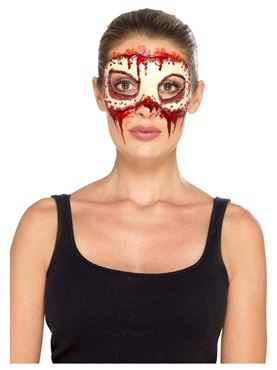 Womens Masquerade Face Off Prosthetic - Side View