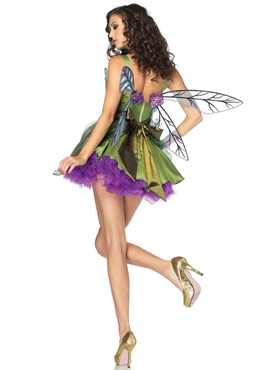 Adult Woodland Fairy Costume - Back View