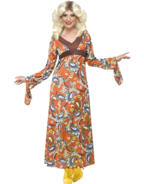 Adult Woodstock Maxi Dress Costume